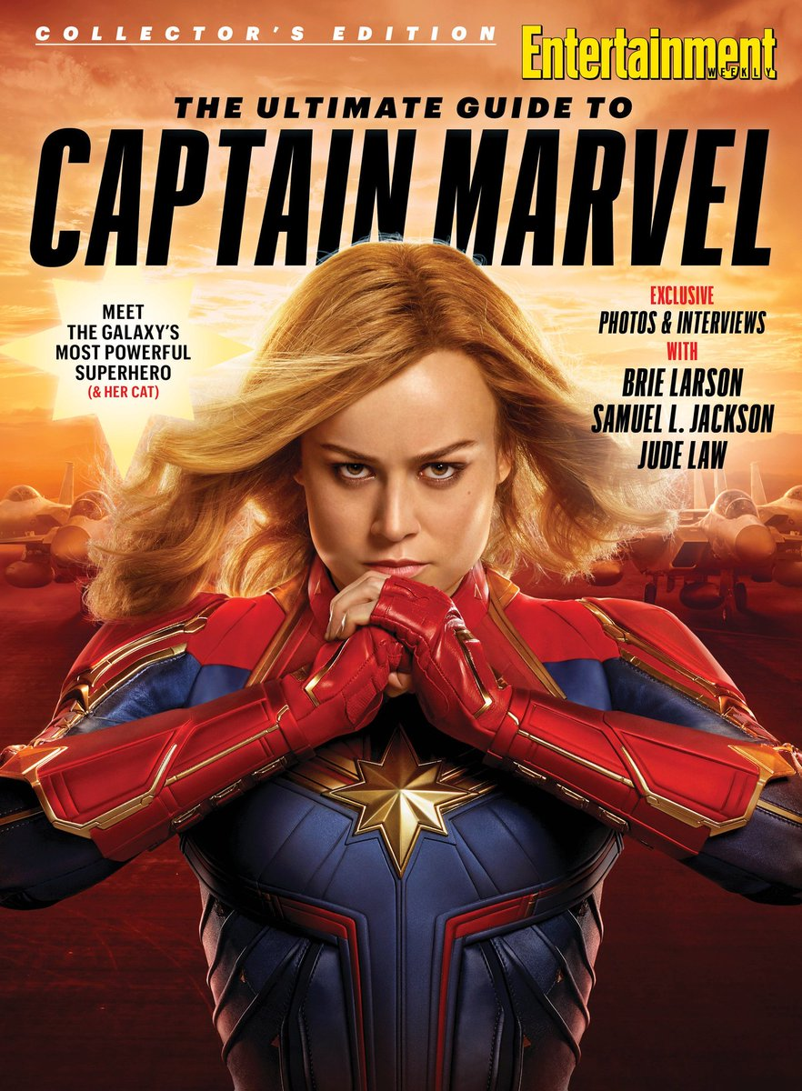 #CaptainMarvel  is front-and-center on the cover of @EW&#39;s new collector&#39;s edition issue!<br>http://pic.twitter.com/X9TGq49E73