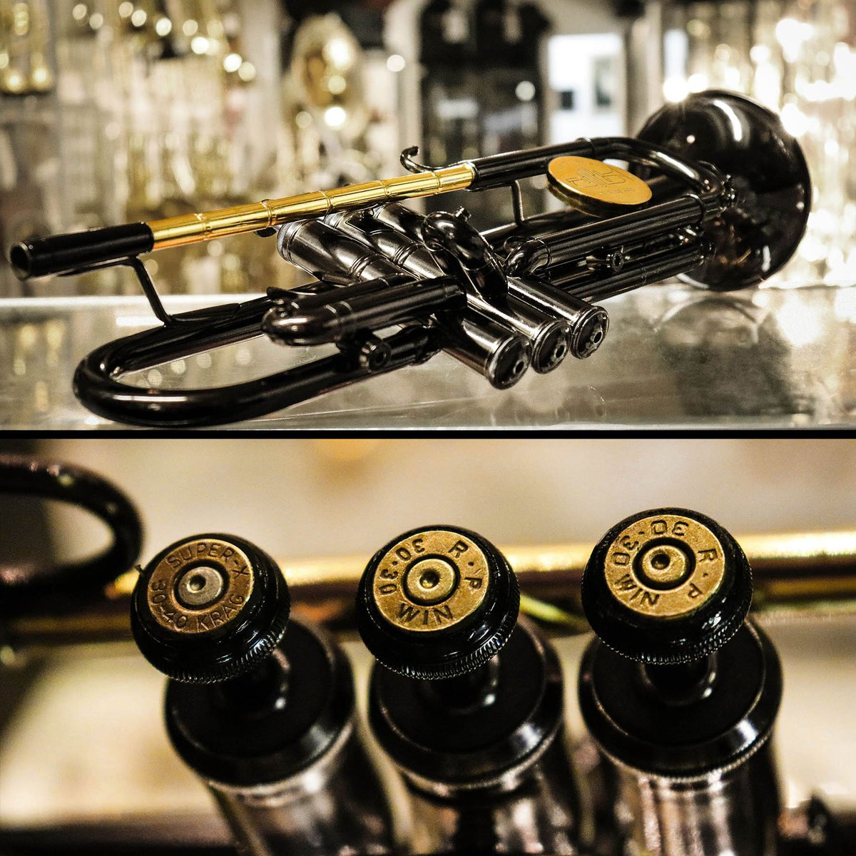The #instrumentofhope is finally ready. It's the first of its kind trumpet made from bullet casings. Play to help us keep the gun violence conversation on the main stage. @ShineMsd
