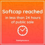 Image for the Tweet beginning: SOFTCAP REACHED!!!! 🎉🎉🎉🎉🎉  #FidelityHouse #FIH #ICO