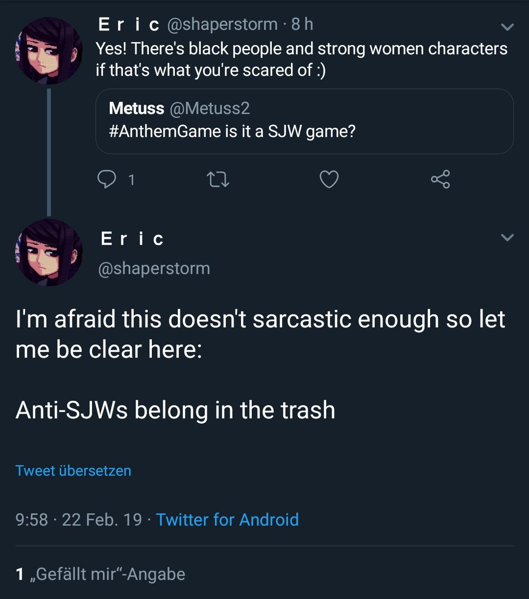 SJWs have no fucking idea what strong women characters are at all :&#39;)  SJW definition: Women are only strong when they emulate the Man.  Feminists/SJWs does not see femininity as something that can be &quot;strong&quot; <br>http://pic.twitter.com/jvTc6HvO7h