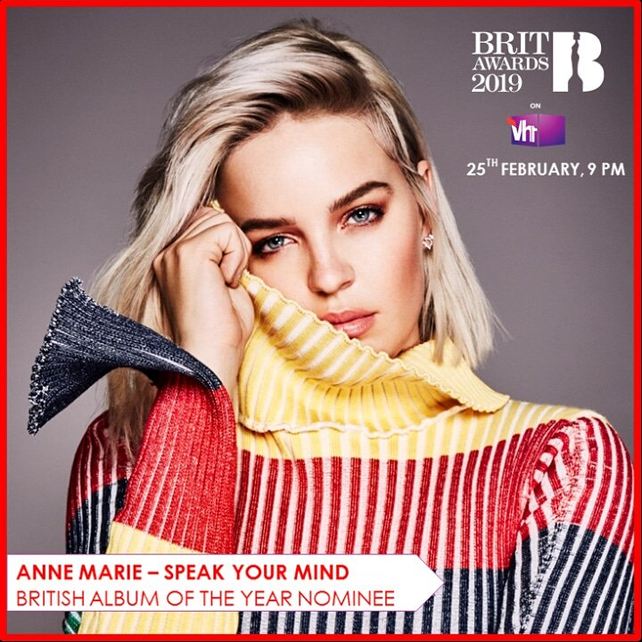 #BritAwardsOnVh1 - Tune in this Monday, 25 Feb @ 9PM to watch who bags the British Album Of The Year at this year&#39;s @BRITs!  @AnneMarie #BRITS #britawards #BRITSOnVh1 #BritsAwards2019 #BRITS2019 #AnneMarie #SpeakYourMind #AwardShow  #AlbumOfTheYear #Vh1India #GetWithIt<br>http://pic.twitter.com/Uz2DDXepWk