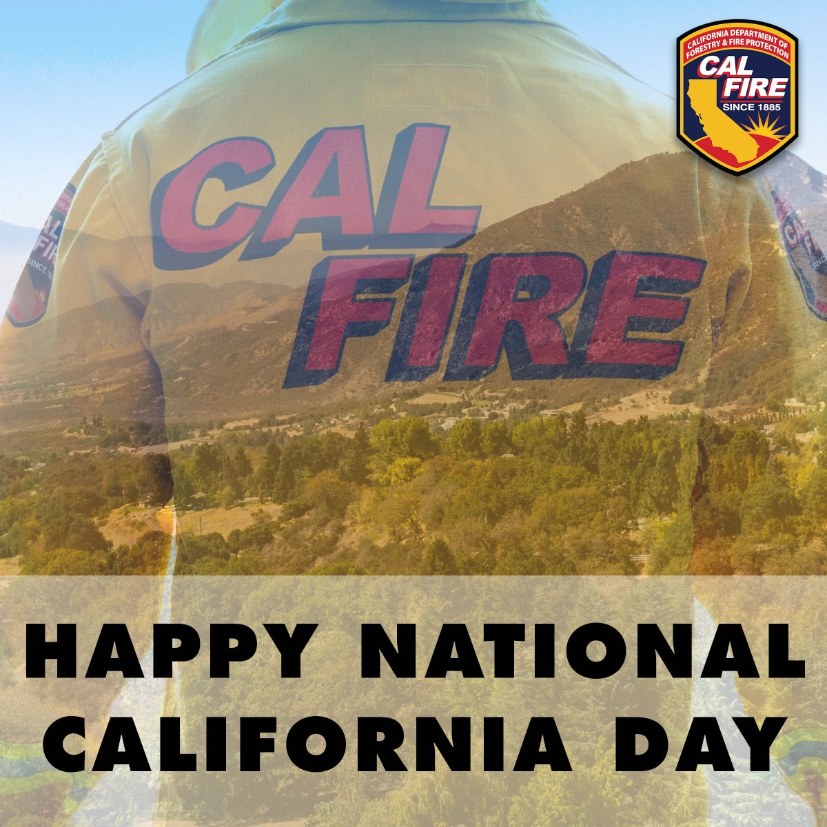 CAL FIRE is proud to serve the people of California, protecting lives and property in the great state since 1885. #NationalCaliforniaDay<br>http://pic.twitter.com/nyq5ldVH8r