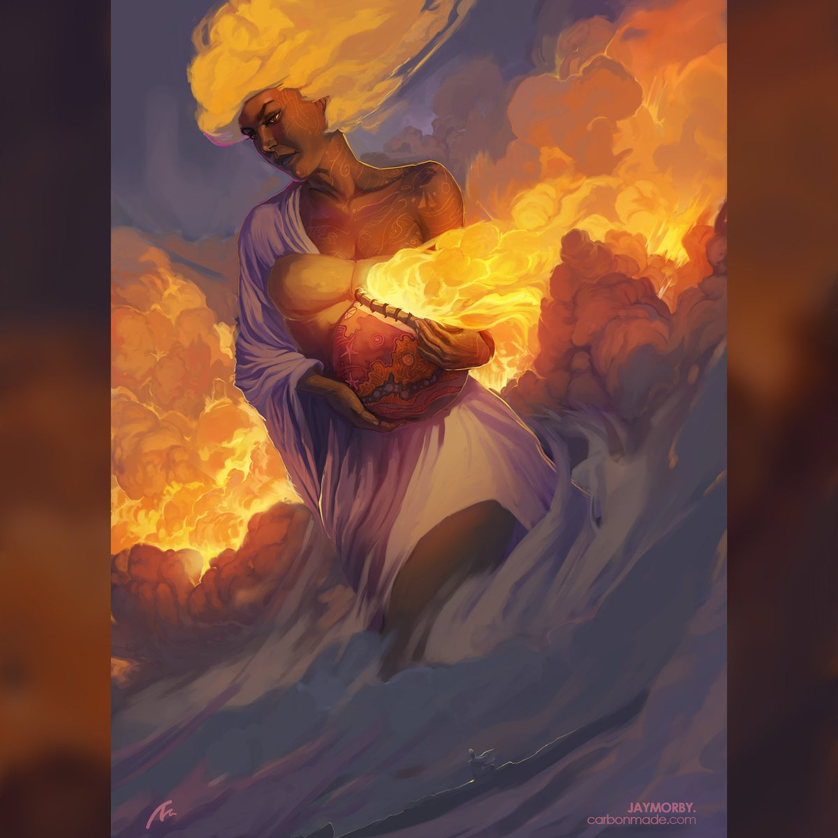 &quot;She brought Dawn&quot;  | | This Ember is dedicated to those who've brought a new kind of light to the world of another. And if both parties did so, that&#39;s just the best!  #WeAreNigerianCreatives #fantasyart #ValentinesDay <br>http://pic.twitter.com/Zvv6UDa9QH