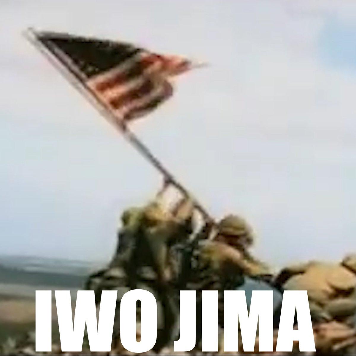 74 years ago today, Marines on Iwo Jima raised the flag atop Mount Suribachi.  Semper Fidelis.