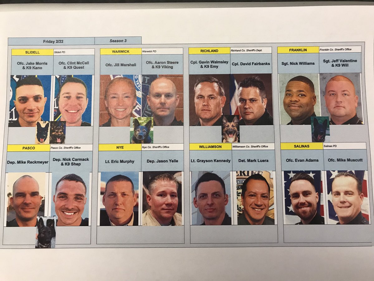 Tonight's #livepd lineup! See you @9p ⁦@AETV⁩