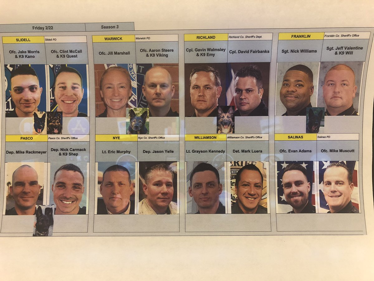 Tonight's LIVE PD ROLL CALL LINEUP on A&amp;E at 9.  Tune in and ride with us America ! <br>http://pic.twitter.com/rHJPqfWjPu