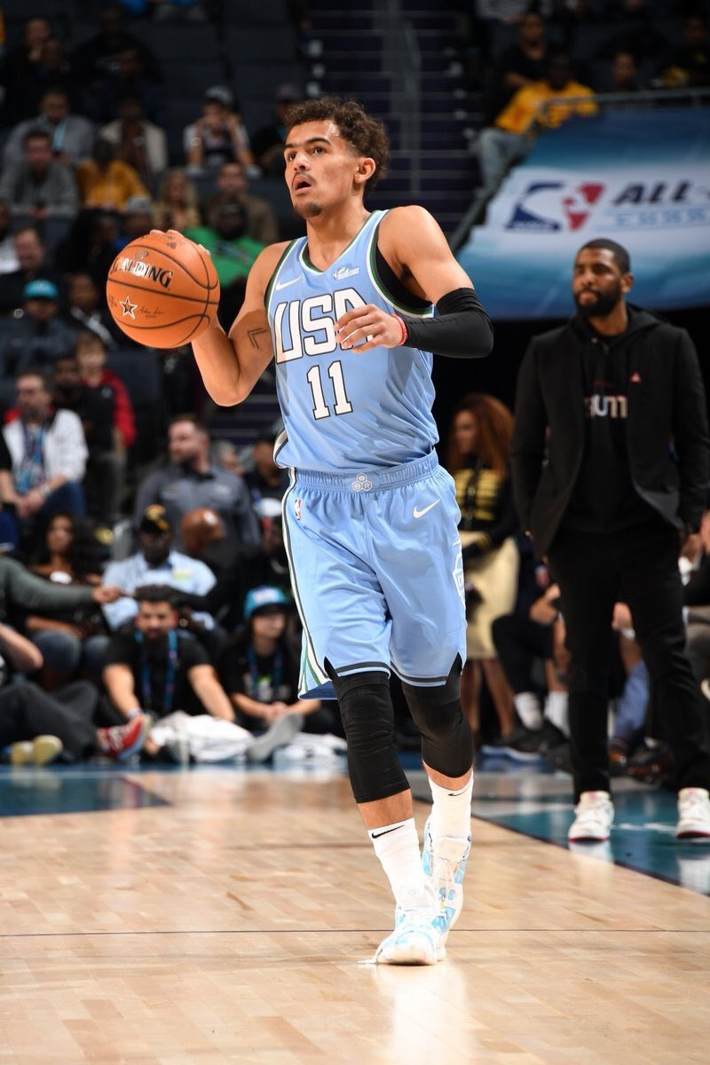 Trae Young averaged 20 PPG and 8.4 APG the final 18 games leading up to the All-Star break.  Young is looking to make this a very close ROY race down the stretch. <br>http://pic.twitter.com/NitBHRYs9o