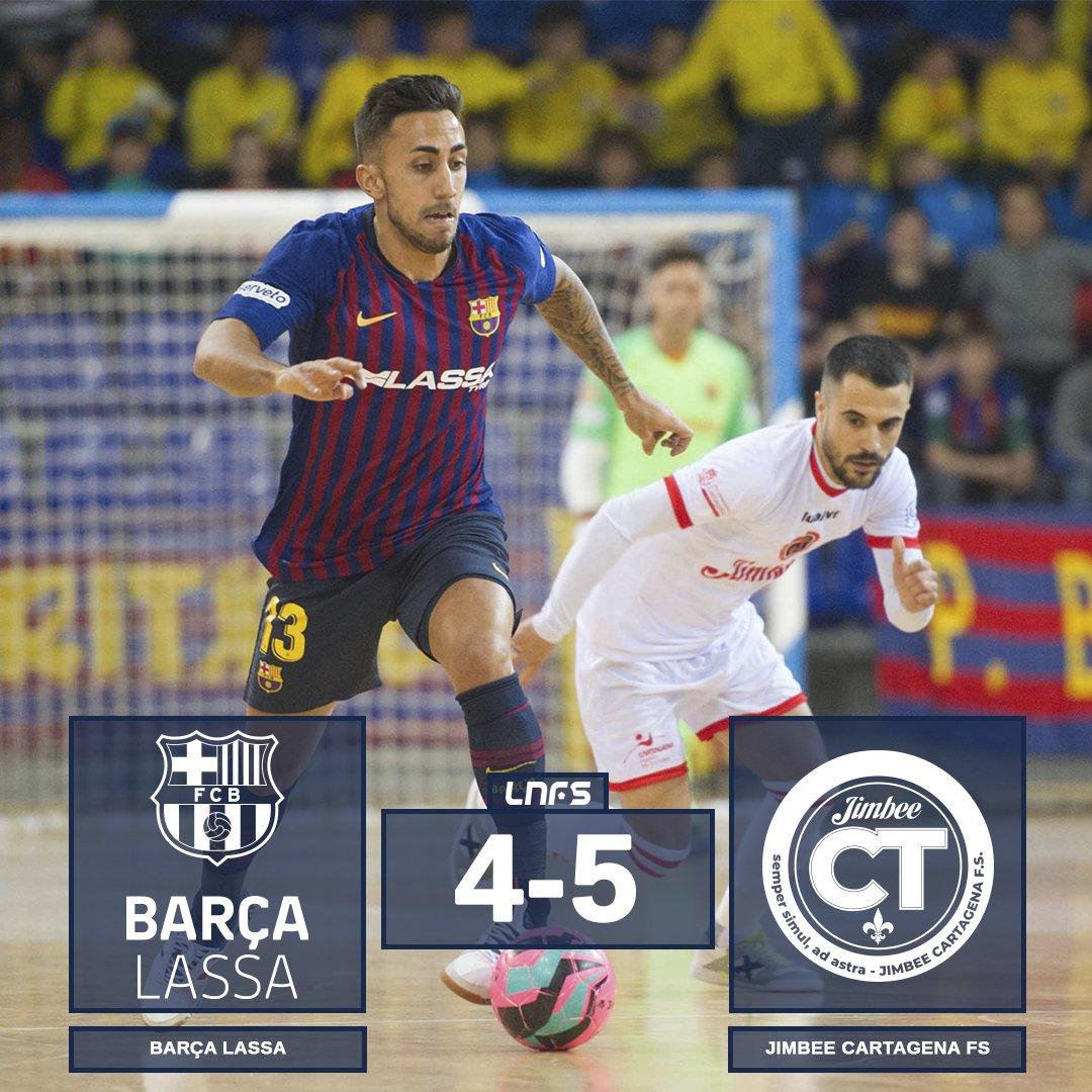 #FutolSala | Final del @FCBfutbolsala 4 - 5 @JimbeeCartagena #Jornada23 #LNFS
