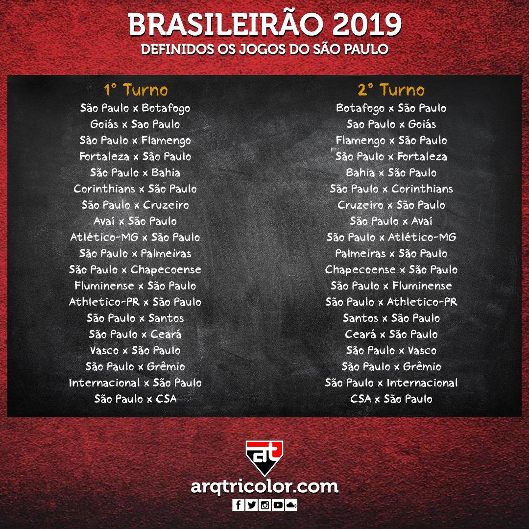 Arquibancadatricolor On Twitter Tabela Do Brasileirao Divulgada Datas Ainda A Definir