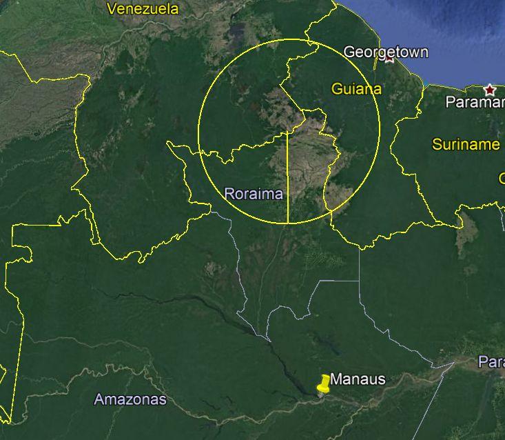 Esse é o raio de alcance do s-300 versão russa, 300km. A versão pra exportação que a Venezuela tem alcança alvos aéreos a no máximo 200Km de distância (250 segundo algumas fontes) Manaus fica a 900km dali