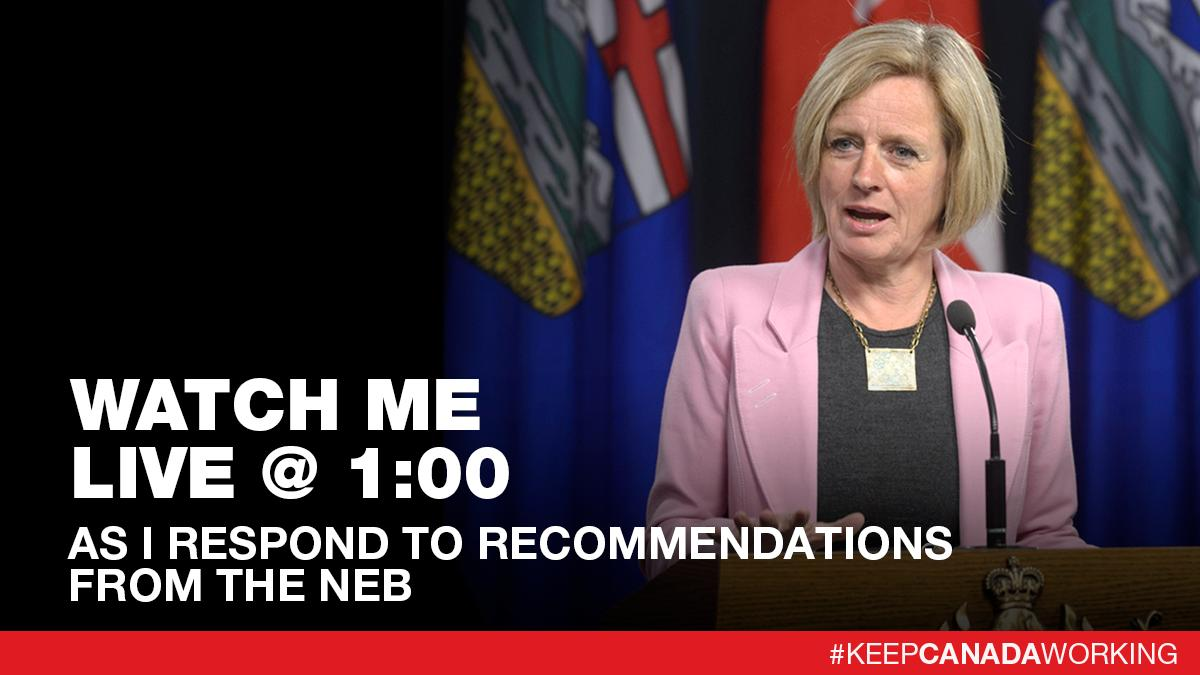 Watch me live at 1 pm as I respond to recommendations from the National Energy Board for proceeding with the Trans Mountain pipeline: https://www.facebook.com/rachelnotley/videos/2117363138357896/…  #ableg #cdnpoli #TMX #TransMountain