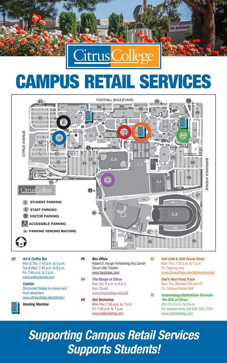 Citrus College Campus Map on
