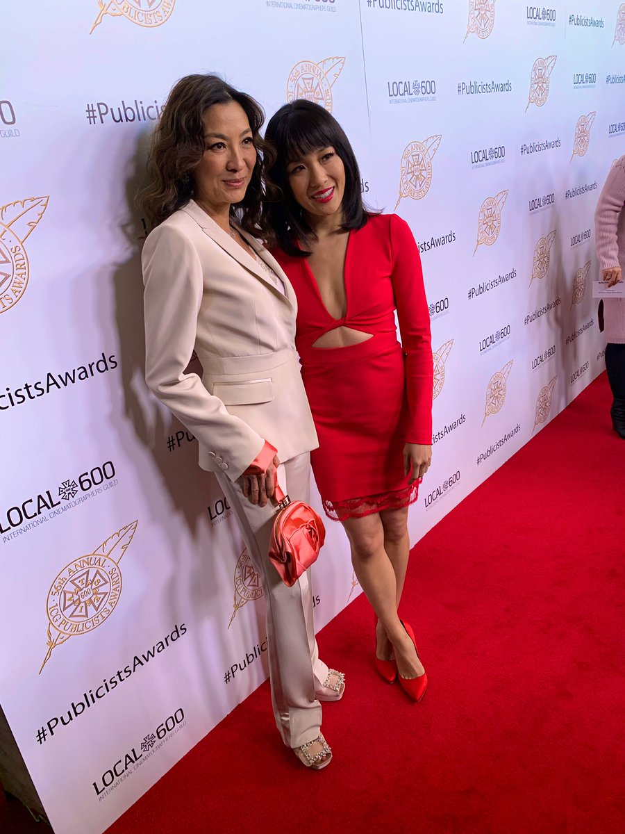 Kicking the red carpet off with @ConstanceWu and #MichelleYeoh at the #PublicistsAwards!<br>http://pic.twitter.com/HFnti33c2H &ndash; à The Beverly Hilton