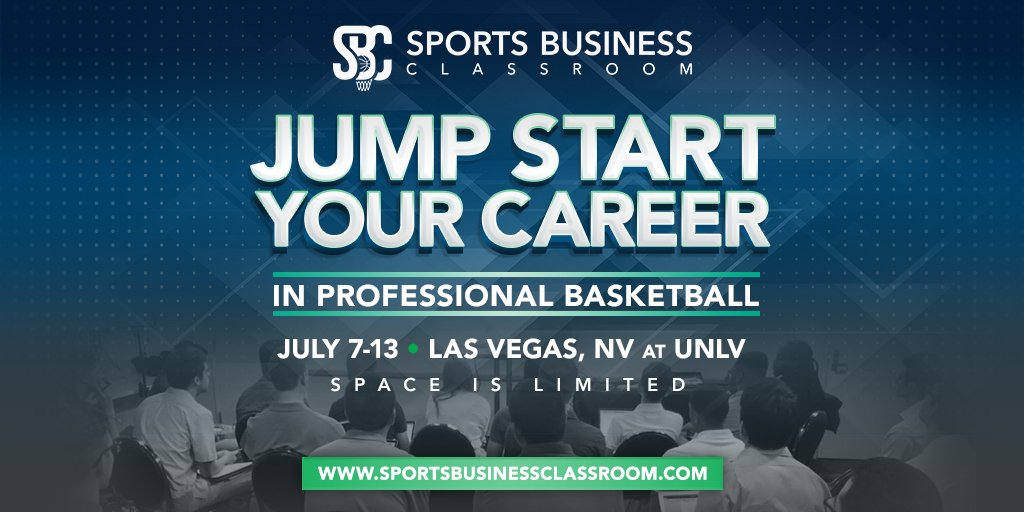 Big news: Registration is now OPEN for Sports Business Classroom 2019! Go to https://www.sportsbusinessclassroom.com/