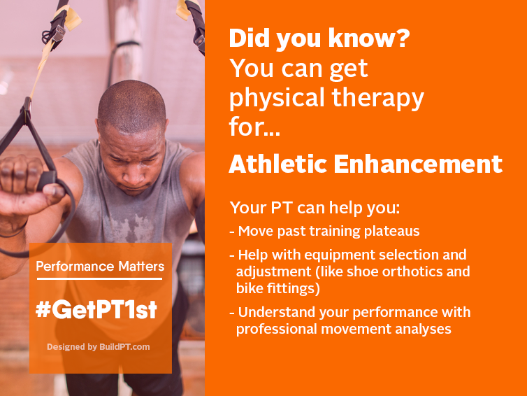 Friday Focus >> get physical therapy for athletic enhancement!  #AmherstPT #choosePT #athletic #fitness