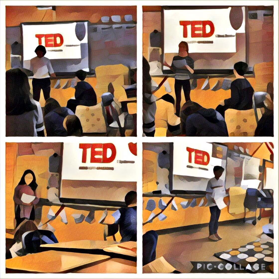 #readingheroes participate in a TED style event in our classroom. They shared their research and their passion. They are empowering, inspiring, beautiful. The future looks good, folks. It looks really good. #middleschool #readersareleaders #smspride #proudteacher