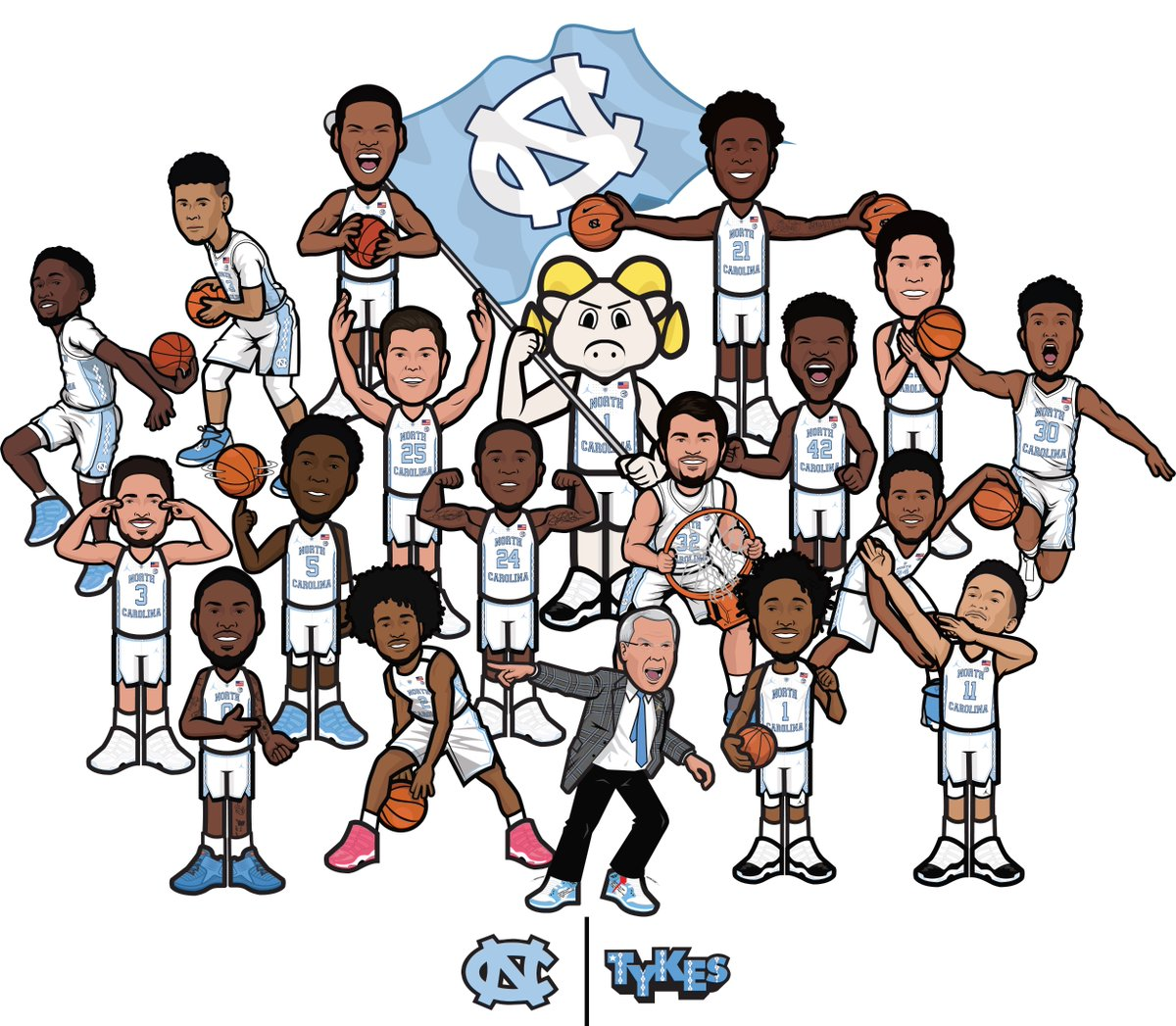 GIVEAWAY TOMORROW   Tykes t-shirts for students at gate C  posters for fans at gates A,B,D  #CarolinaSZN<br>http://pic.twitter.com/M2RmeNKuVn