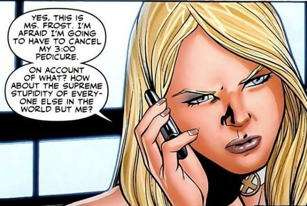 Having one of those days at work... Emma gets it.  #XMen #Marvel <br>http://pic.twitter.com/nO9TdFllbd