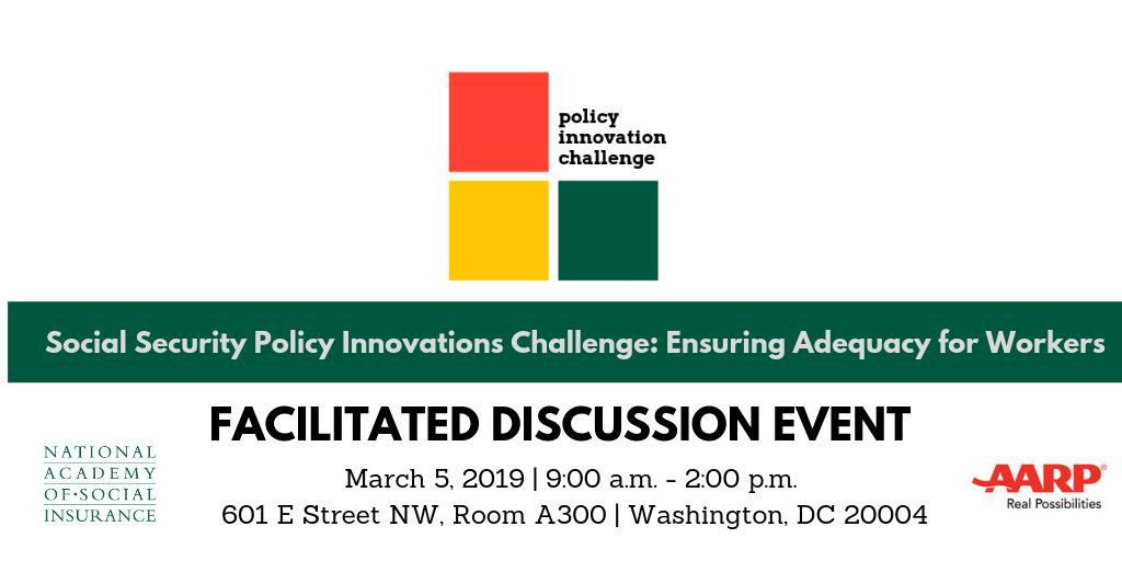 Join us and @socialinsurance on March 5 for a half-day event to learn more about applying for the #SocialSecurity Policy Innovations Challenge. Attend in-person in Washington, DC or join the livestream from anywhere: http://spr.ly/6010Ep1qn.