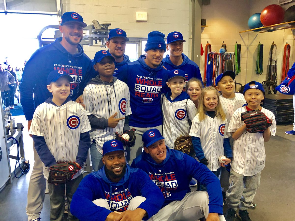 Thanks to the @Cubs for surprising our All-Stars today at Spring Training! #KidsCubsCactus