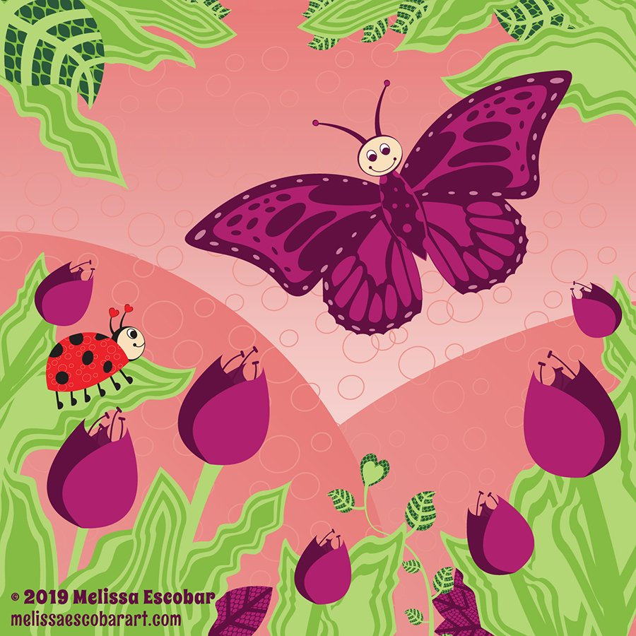 Oh this was such a great #colour_collective this week for me.  I really enjoyed putting this all together. @Clr_Collective  #colour_collective #aubergine #butterfly #scbwi #kidlitart #childrenillustration #vectorart <br>http://pic.twitter.com/xbcMYqcEqp