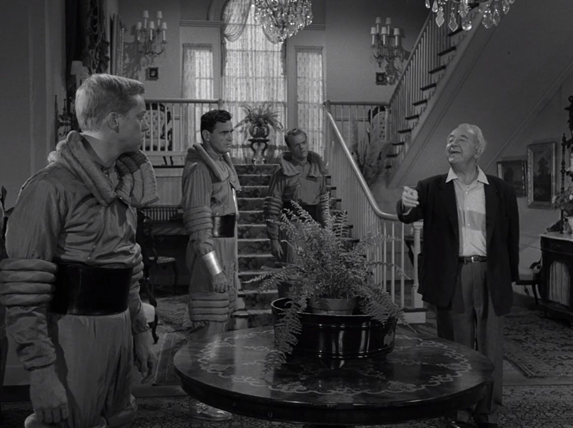"""Kirby: """"But ... you're real!""""  Wickwire: """"Well, of course I am. Isn't everybody?""""   Kirby: """"I used to think so.""""   #ZoneQuotes #S1E20   Charles Beaumont's """"Elegy"""" is on @netflix, @hulu, @PrimeVideo and DVD/Blu-ray."""
