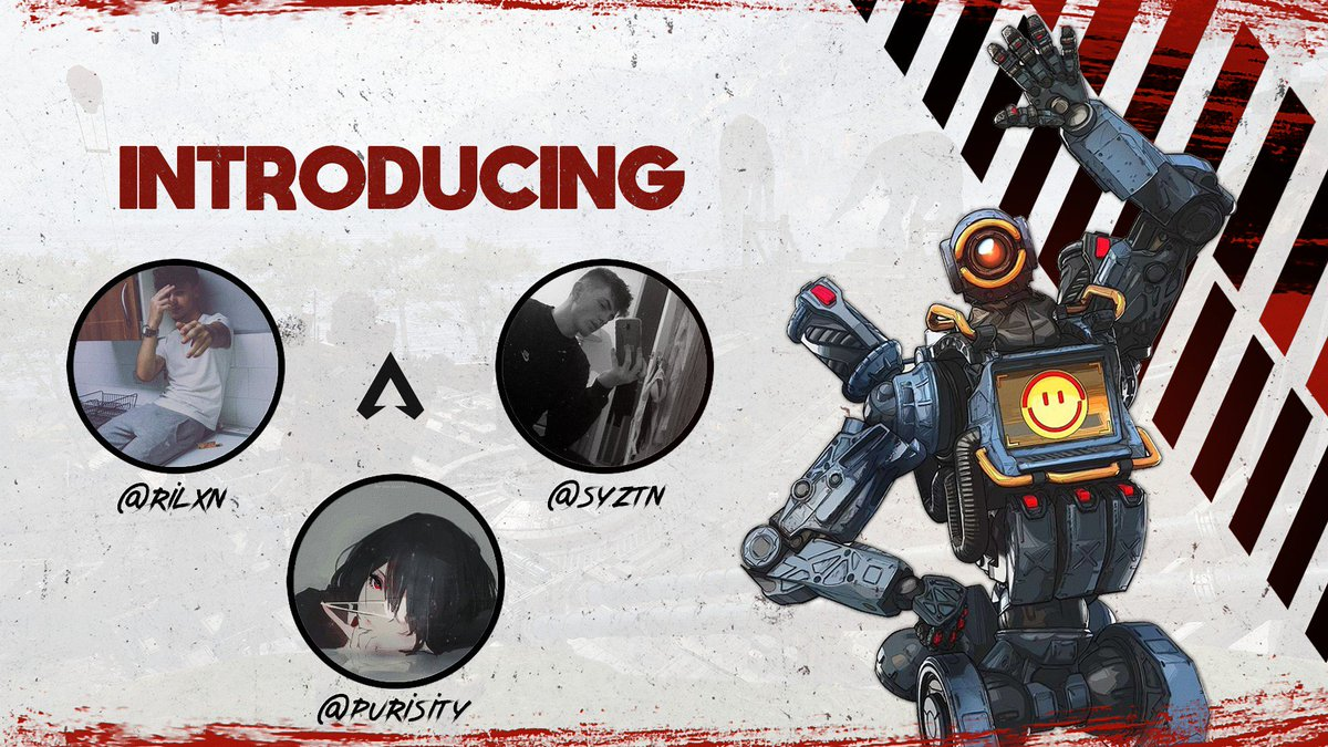 [#Announcement]  We are pleased to announce our Apex Legend&#39;s roster.  Give them a warm welcome.   -@Rilxn  -@syztn  -@purisity  #TRD<br>http://pic.twitter.com/kMexPLPe3V