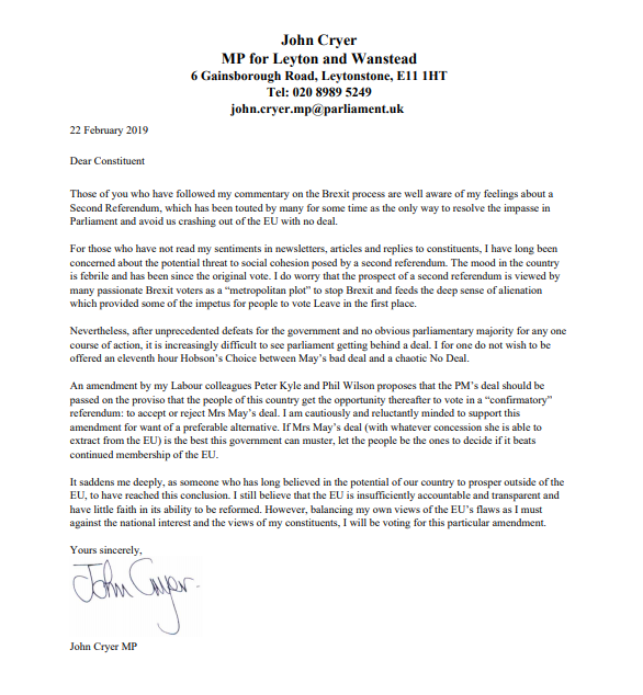 Please see an open letter to my constituents, explaining why I intend to vote for the Kyle/Wilson amendment on #Brexit. <br>http://pic.twitter.com/eIdjT6Sm3b