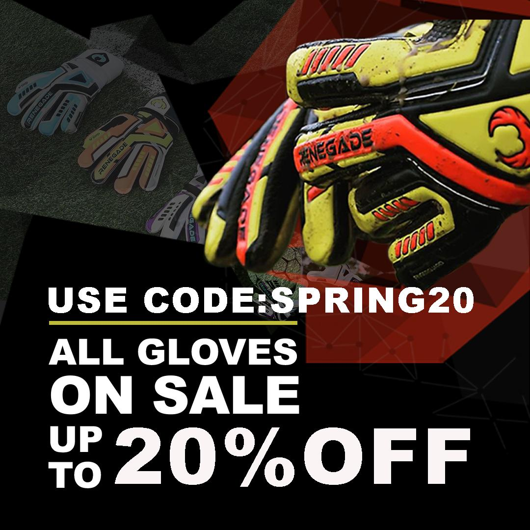 Preparing for the season? Head over to http://www.renegade-gk.com to get up to 20% OFF on ALL our gloves. Use Code: SPRING20 #goalkeeper #goalkeepertraining