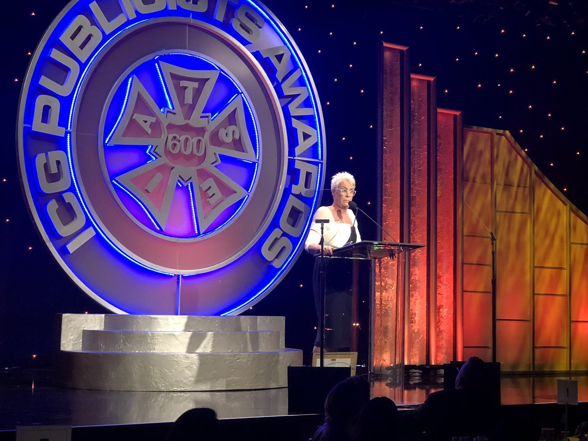 Congratulations #sagaftramember Jamie Lee Curtis @jamieleecurtis on receiving the #PublicistsAwards #ICG600 2019 Lifetime Achievement Award!