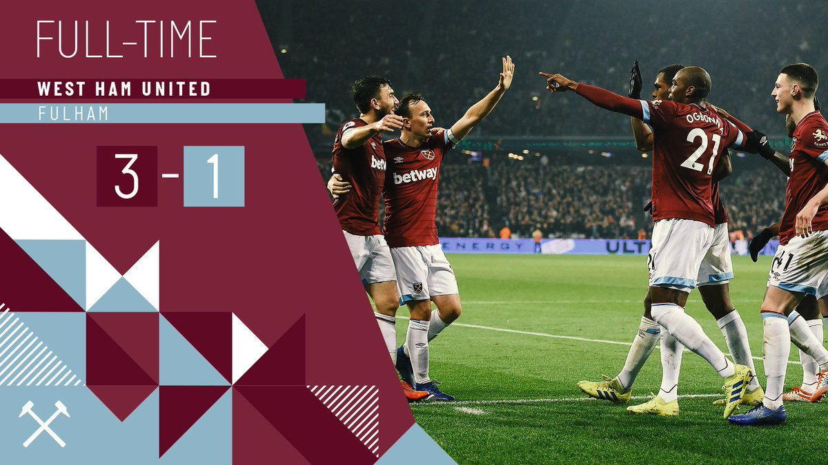3️⃣ goals ✅ 3️⃣ points ✅  #WHUFUL