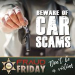 Image for the Tweet beginning: #LASD warns consumers of #FraudFriday-Car