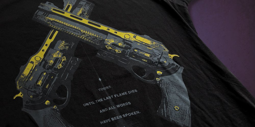 95183c3d8824 ... visit http   bungie.net rewards to claim your offer code for the  exclusive long sleeve shirt for purchase. The miniature replica for The Last  Word is ...