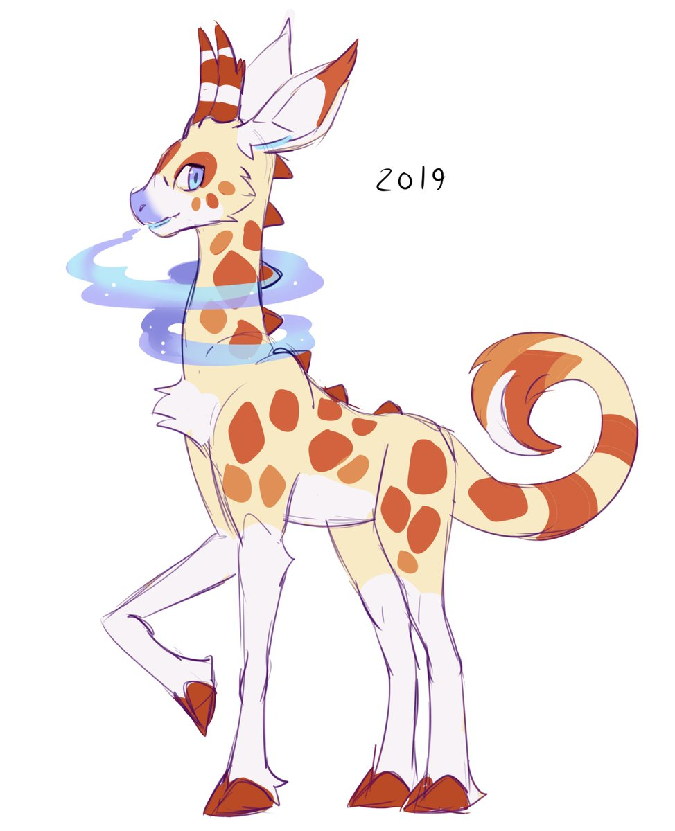 A redraw of an old character. She is a Dragon giraffe named Emily<br>http://pic.twitter.com/jaD6fLqyRl