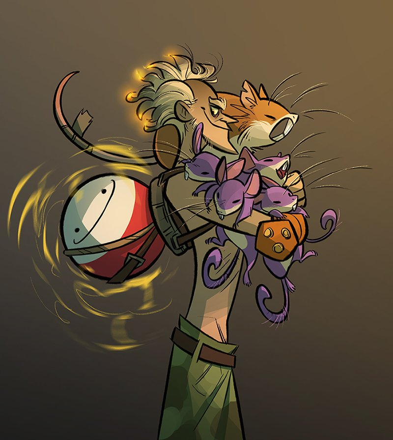 Junkrat w some pokes to match my roadhog pic tehe.  All his rattata use the F.E.A.R strat
