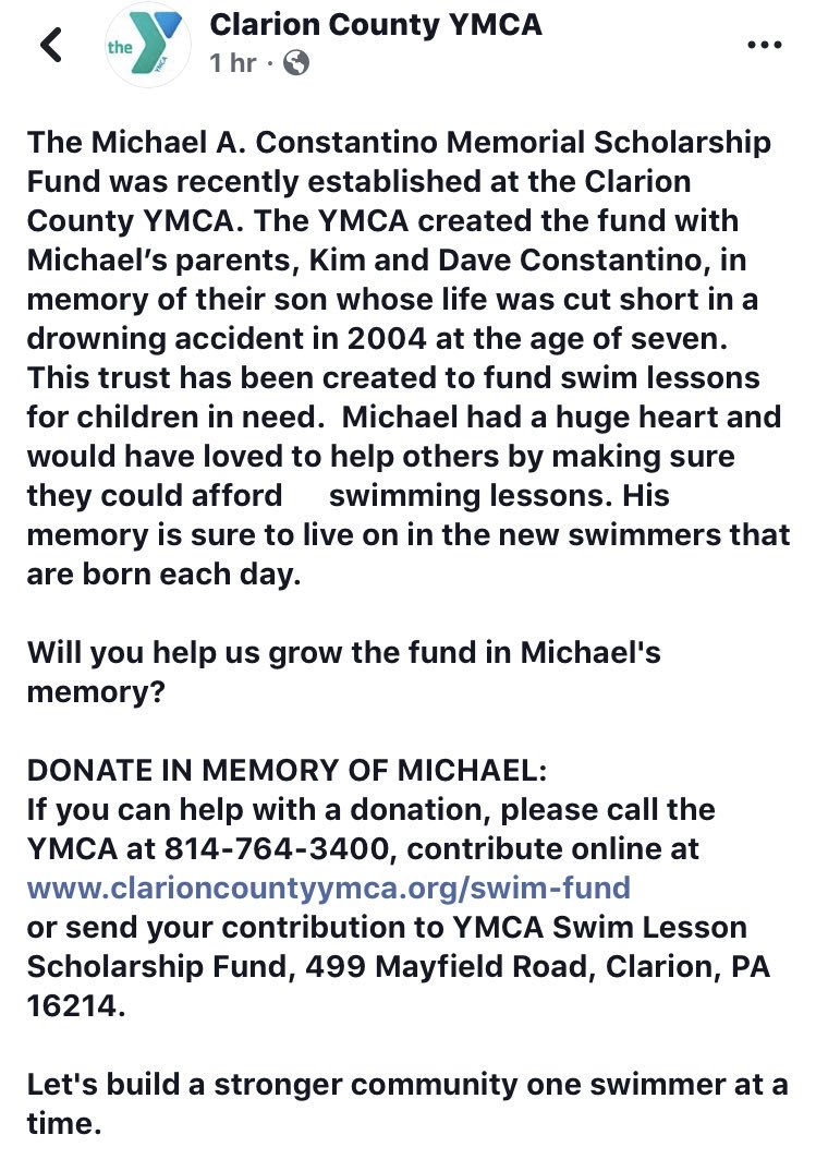 some of you may not know, but my brother passed away in a drowning accident when he was 7. this fund will help pay for swimming lessons for people who cannot afford them. Please share this in hoping to raise awareness. <br>http://pic.twitter.com/CTqEBEFcQ2