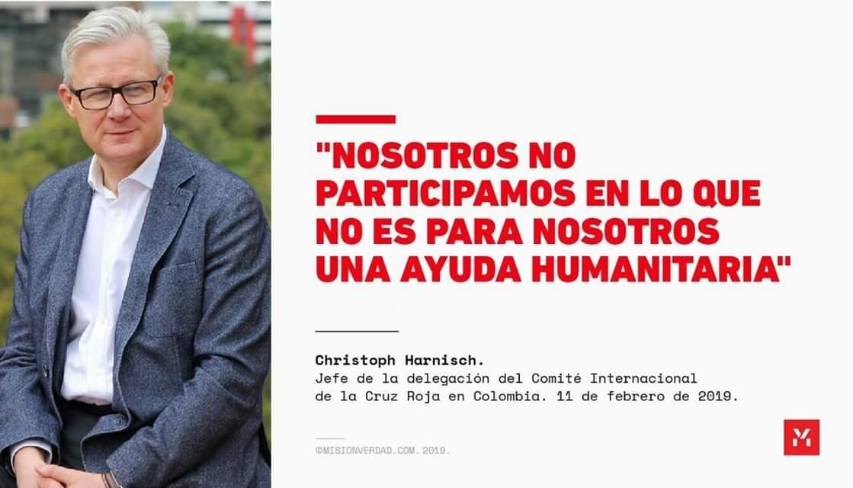 Cruz Roja lista para ayudar a Venezuela si se respeta su