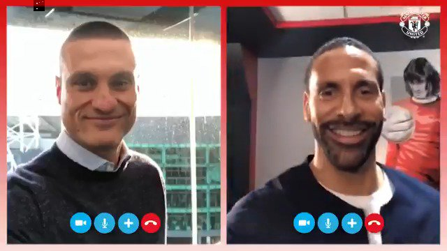 #MUFC legends Nemanja Vidic and @RioFerdy5 dial in for the ULTIMATE team talk ahead of Liverpool!