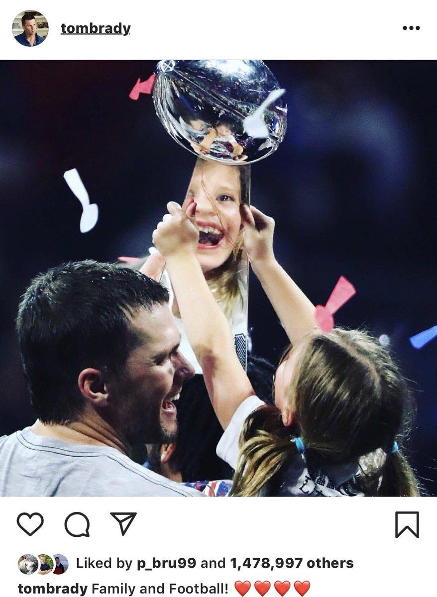 Brady after a Super Bowl win vs. LeBron after a regular season win  <br>http://pic.twitter.com/olXqSJcTuH