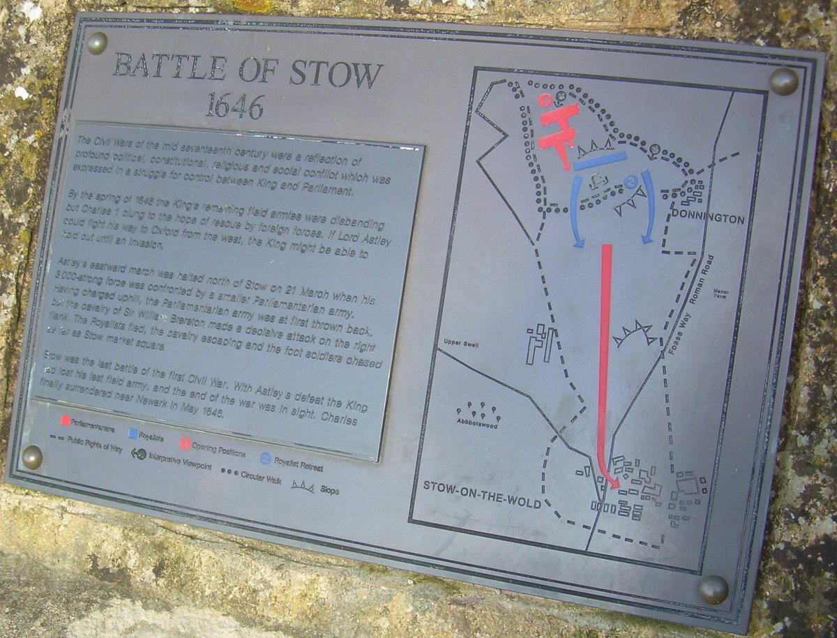 Looking forward to the @battleftrust Conference on 26-28 April. Great programme and an opportunity for me and @ConflictArchaeo to talk about the work we have been doing at Stow to find the 1646 battlefield there. We judge the battlefield is not located as shown below!