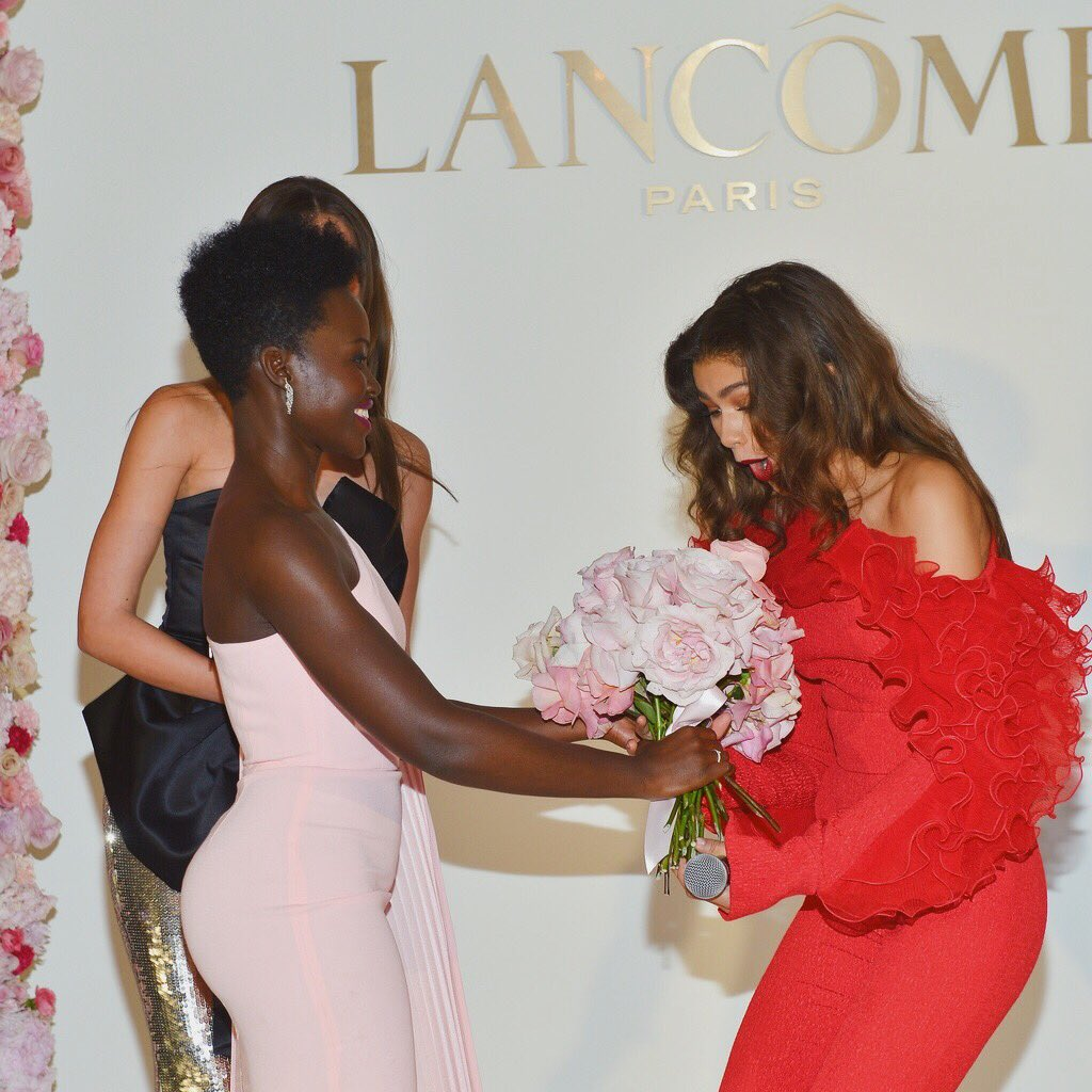 When the queen @lupita_nyongo herself welcomes you to the family... @LancomeUSA 💕