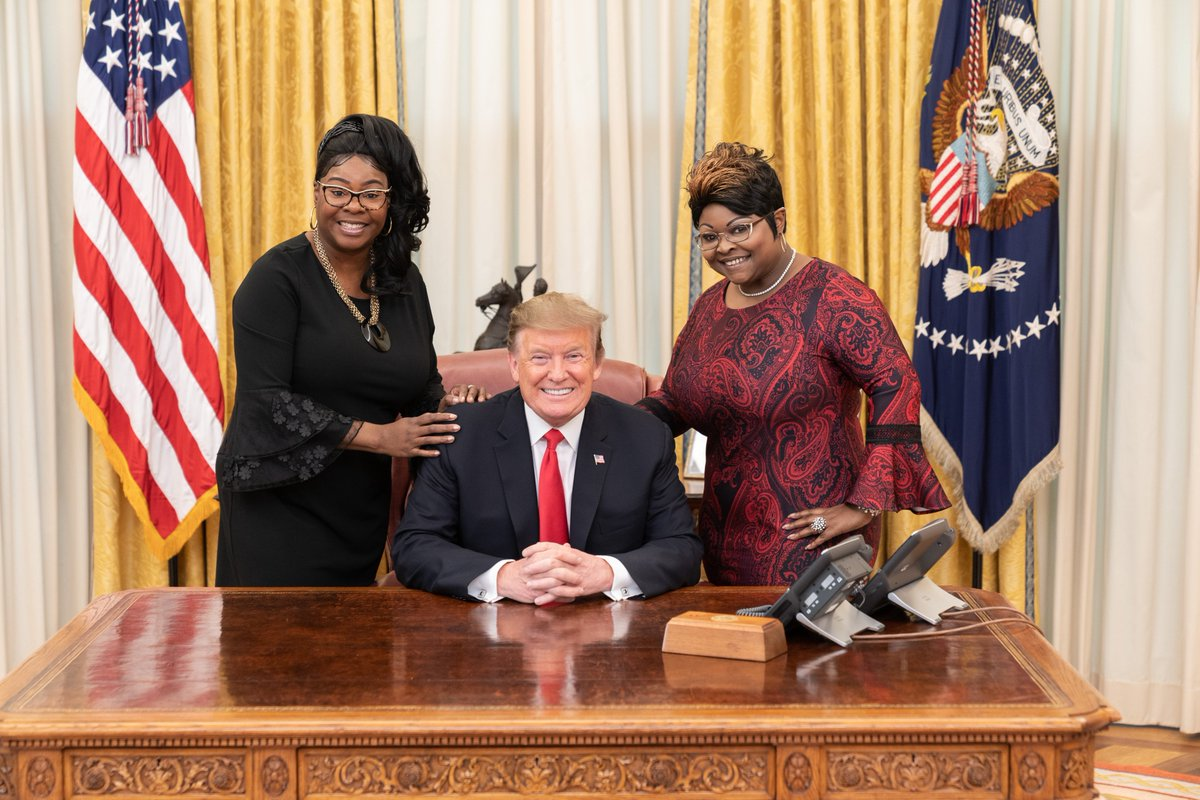 Enjoyed chatting with our great President, @realDonaldTrump. We love & support the @POTUS because he loves & supports all Americans. He's done more for black people than any other President in our lifetime. There are those that write history but President Trump is making history.