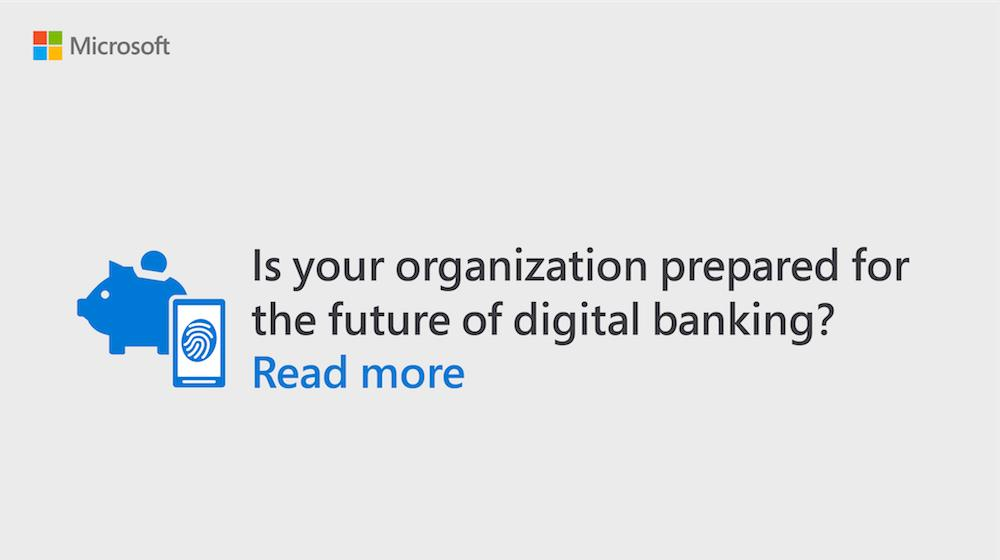 Discover how the digital era is leading #banks to innovate and prosper in a new ecosystem where agility is key. Read more: http://msft.social/FYYPw5