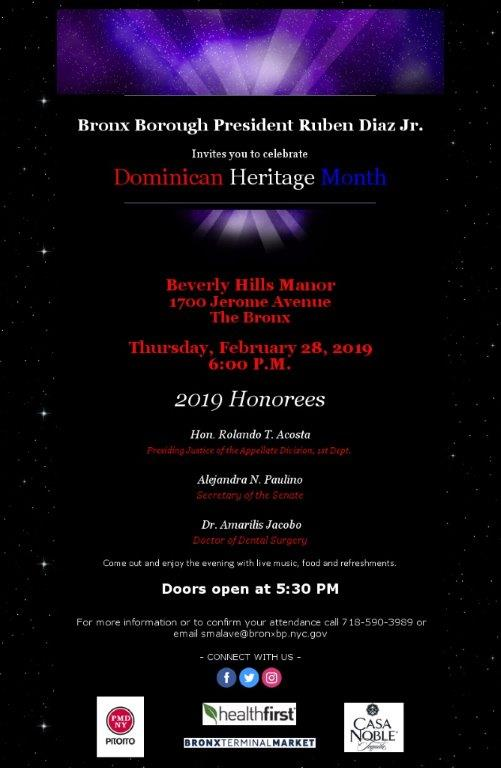 .@rubendiazjr's annual Dominican Heritage Celebration is next week! Check out the flyer for more info! #bronx #nyc