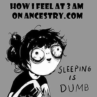 Had too many late nights lately? #genealogy #nosleep<br>http://pic.twitter.com/BqXDhegGDI