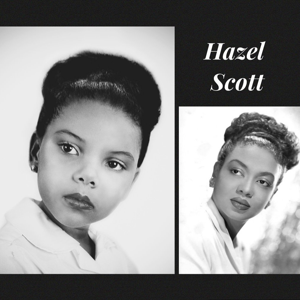 Day 22 of #blackhistorymonth  is dedicated to jazz singer, actress, and classical pianist #HazelScott, who was the first black person to have their own TV show in the U.S. You can see her amazing talent on display here as she plays 2 pianos at once:  https:// youtu.be/1HdnjTCMzpg     <br>http://pic.twitter.com/cZiUdII16F