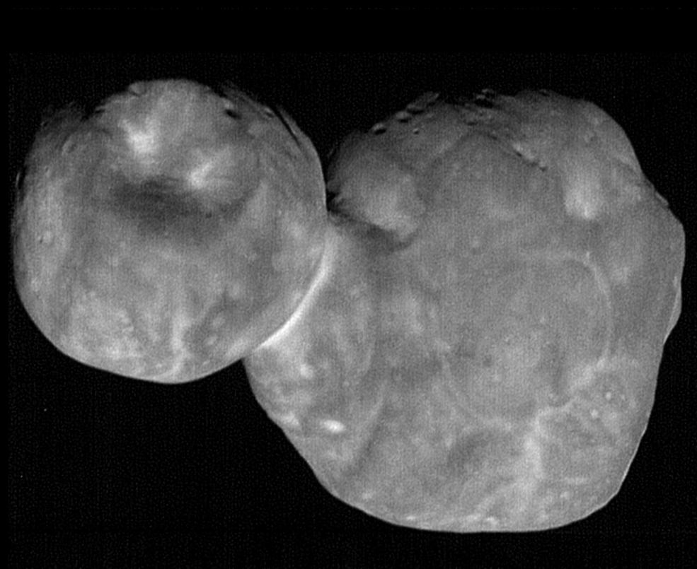 Felt cute, might delete later! 📸 @NASANewHorizons returned its sharpest pictures of #UltimaThule - most distant object ever explored by a spacecraft. Get a closer look:  https://t.co/cX0GZxyCzR