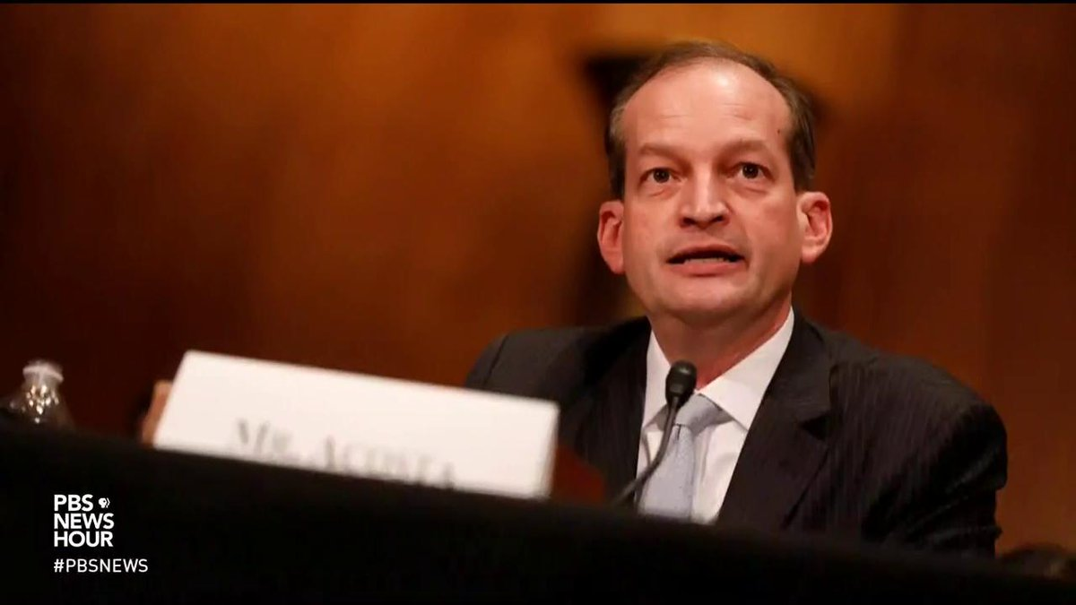 A judge ruled yesterday that prosecutors led by Labor Sec. Alex Acosta in 2008, when he was a US attorney in Florida, broke the law by concealing a plea agreement. The deal was from a sex crimes case that involved more than 30 underage victims.  @jkbjournalist joins @IAmAmnaNawaz