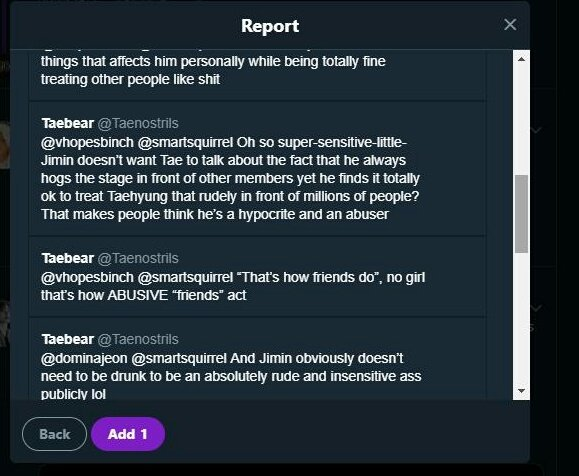 REPORT AND  BLOCK  User   @/Taenostrils   Under targeted harassment and hateful content. Against a B+T member   DO NOT ENGAGE Each time we report an account and ask you to refrain from replying to hateful tweets, it seems as if we told you to do the  opposite!   STOP IT<br>http://pic.twitter.com/UGjK2Lh1h9