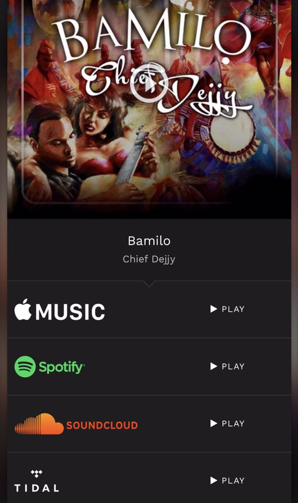 New Music 🔥🦍 https://fanlink.to/Bamilo  #iTunes #Spotify #AppleMusic #Soundcloud #TIDAL #Music #AfroBeat #Africa #OneAFRICA #Love #Wedding #LoveSong #WeddingSong #ChiefDejjy